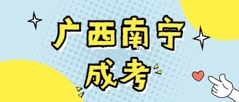 广西南宁成考报名